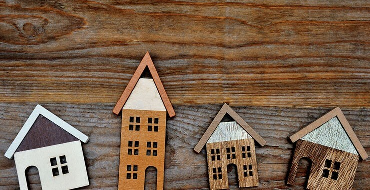 houses in wood